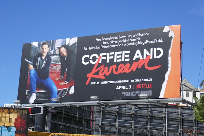 Coffee and Kareem Beverly Hills Cop spoof billboard