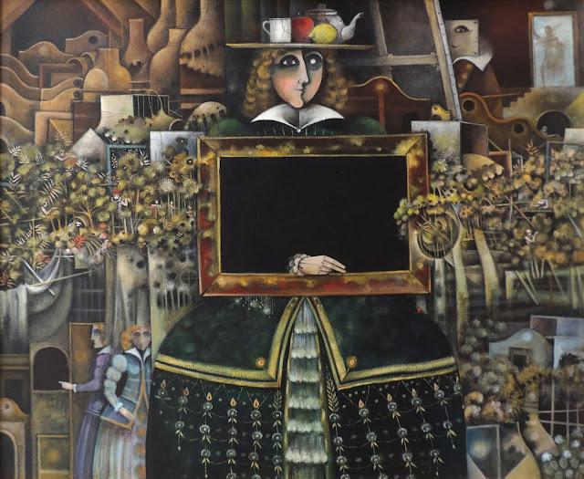 Eduard Alcoy óleo sobre lienzo surrealismo meninas