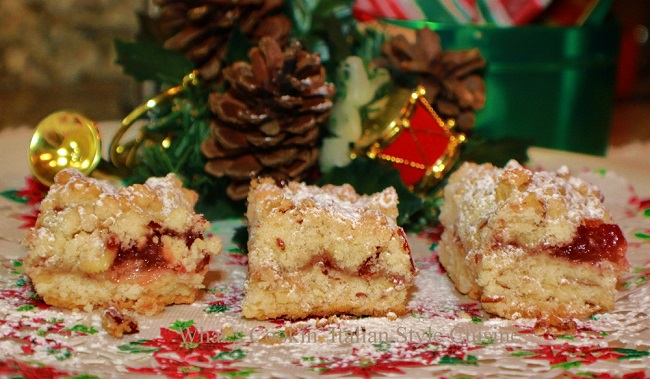 these are raspberry filled shortbread bar cookies