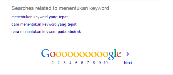 Menentukan Keyword Populer Pada Google