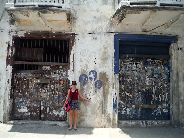 Street art in Cartagena, Colombia