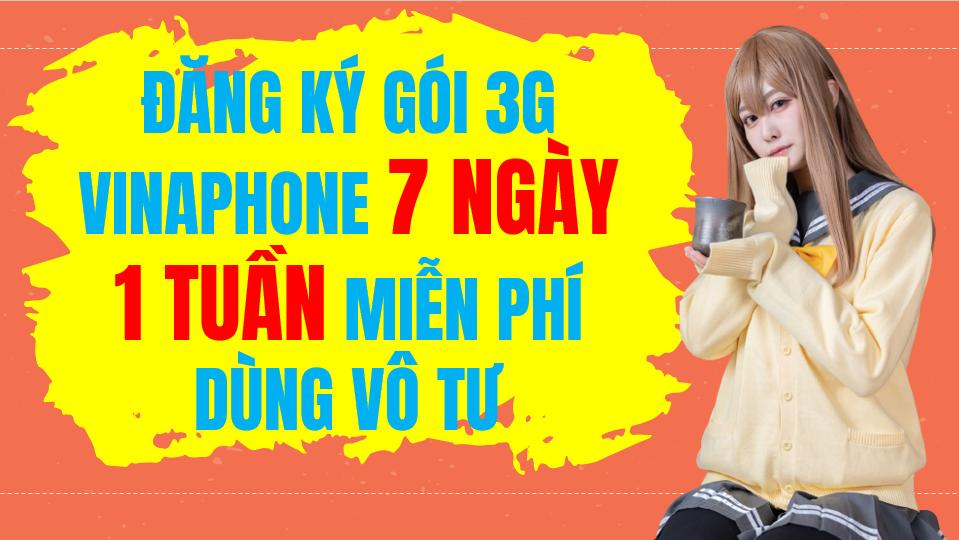 Gói cước 3G Vinaphone 7 ngày ( 1 tuần)