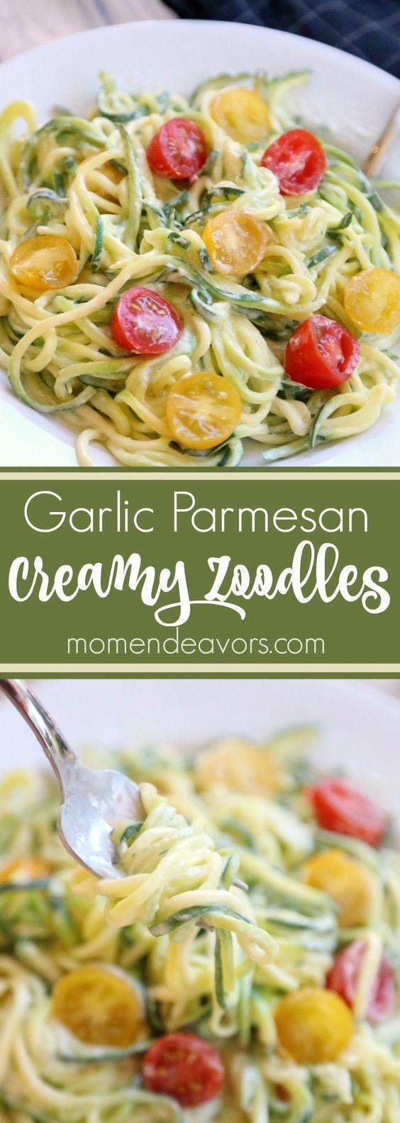 Creamy Garlic Parmesan Zoodles