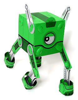 Q-BiT - Poplocks Paper Toy