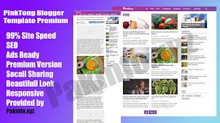 PinkTong Blogger Template Premium Free Download