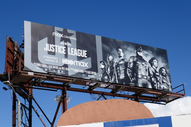 Zack Snyders Justice League HBO Max billboard