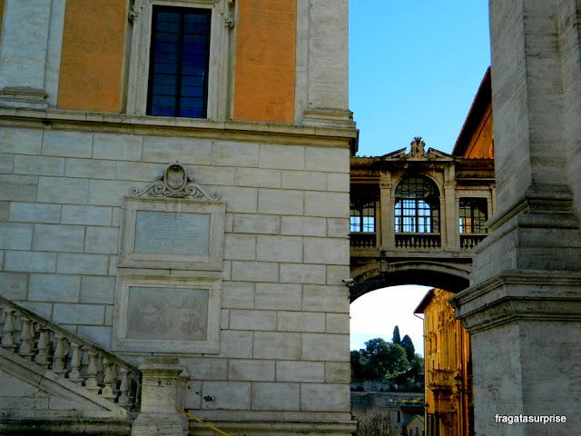 detalhe dos palácios do Campidoglio, em Roma