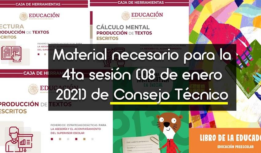 ✅ Consejo Técnico Escolar Ordinario cuarta sesión enero 2021 DESCARGA📑  lecturas necesarias