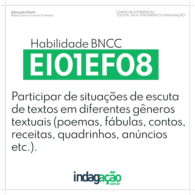 Habilidade EI01EF08 BNCC