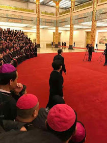 Bispos ilegítimos membros ativos da IX Assembleia do Partido Comunista foram recebidos por u Zhengsheng, do Politburo do PC.
