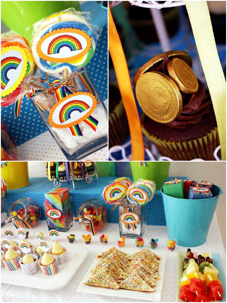 Rainbow Party and DIY Desserts Table - BirdsParty.com