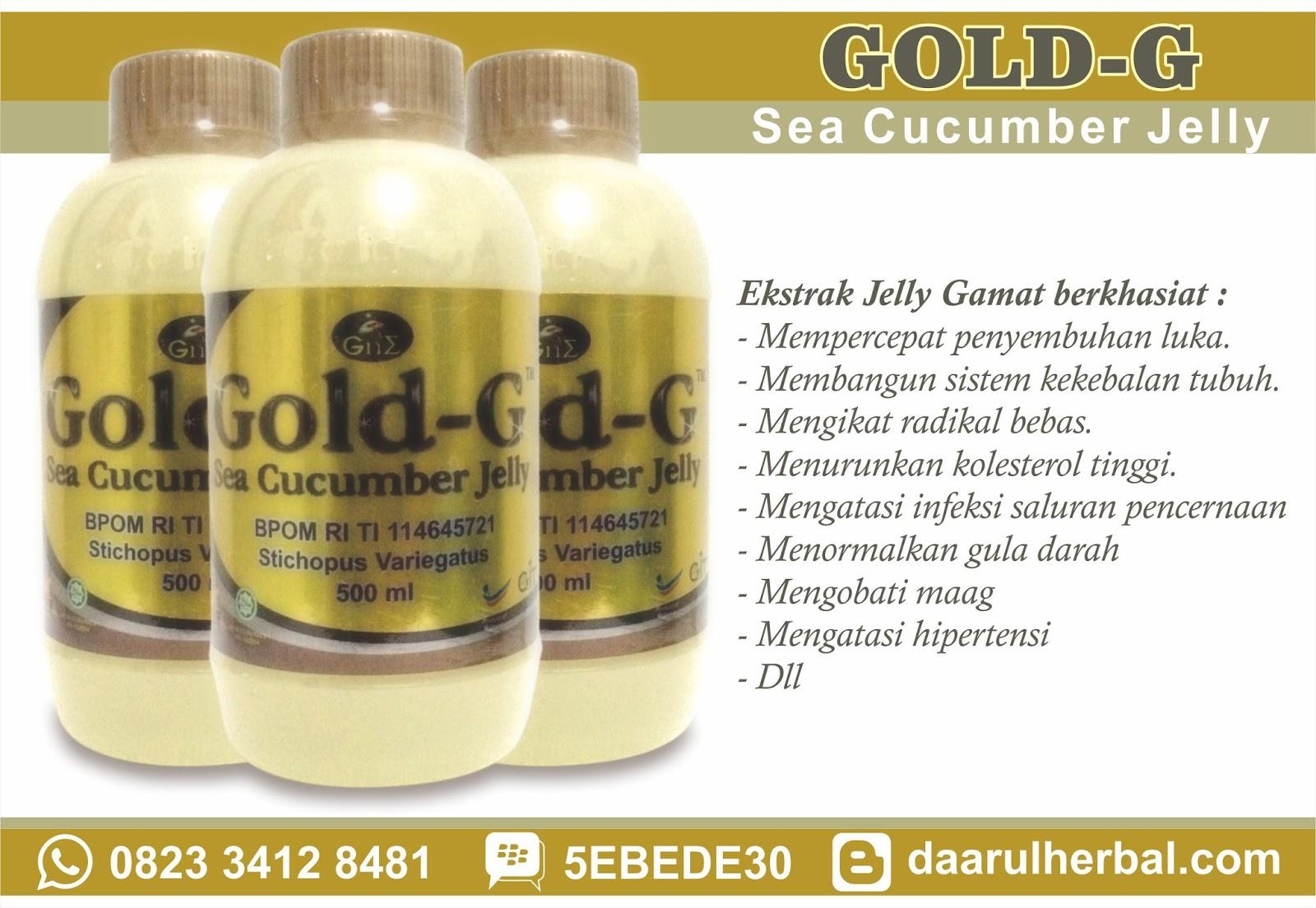 Gold G Jelly Gamat Cucumber Ekstrak Gamatteripang Emas 500 Ml Best Seller 500m Harga Rp195000