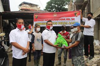 Dir Reskrimum Polda Jambi Pimpin Bhakti Simpatik Ke Rumah Warga Kurang Mampu