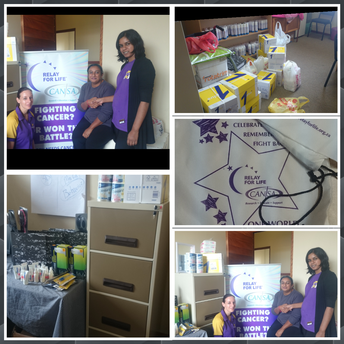 CANSA staff were thrilled to receive these much-needed items from Newcastle Tattersalls as part of the Hollywoodbets Social Responsibility Programme