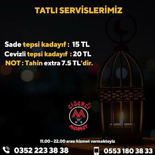 ciğerci mehmet kayseri ramazan 2020 iftar menü kayseri iftar menüsü paket servis