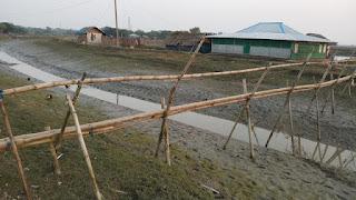 Village bamboo bridge