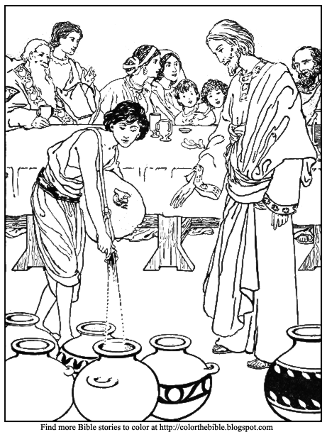 Coloring Pages For Jesus Turning Water Into Wine : Color the bible