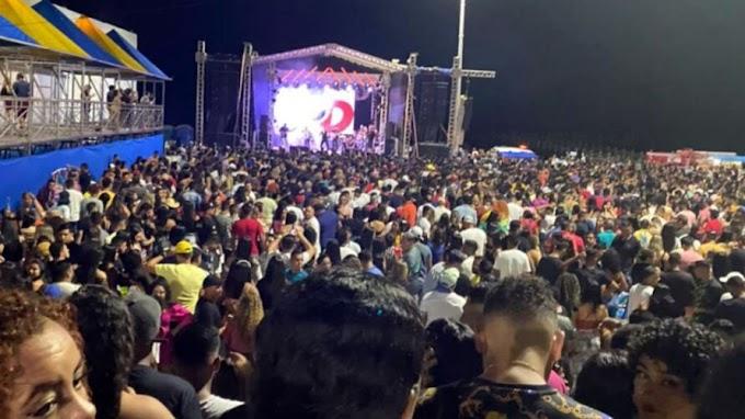 COVID FEST: Município no Pará faz show e reúne centenas de pessoas em plena pandemia