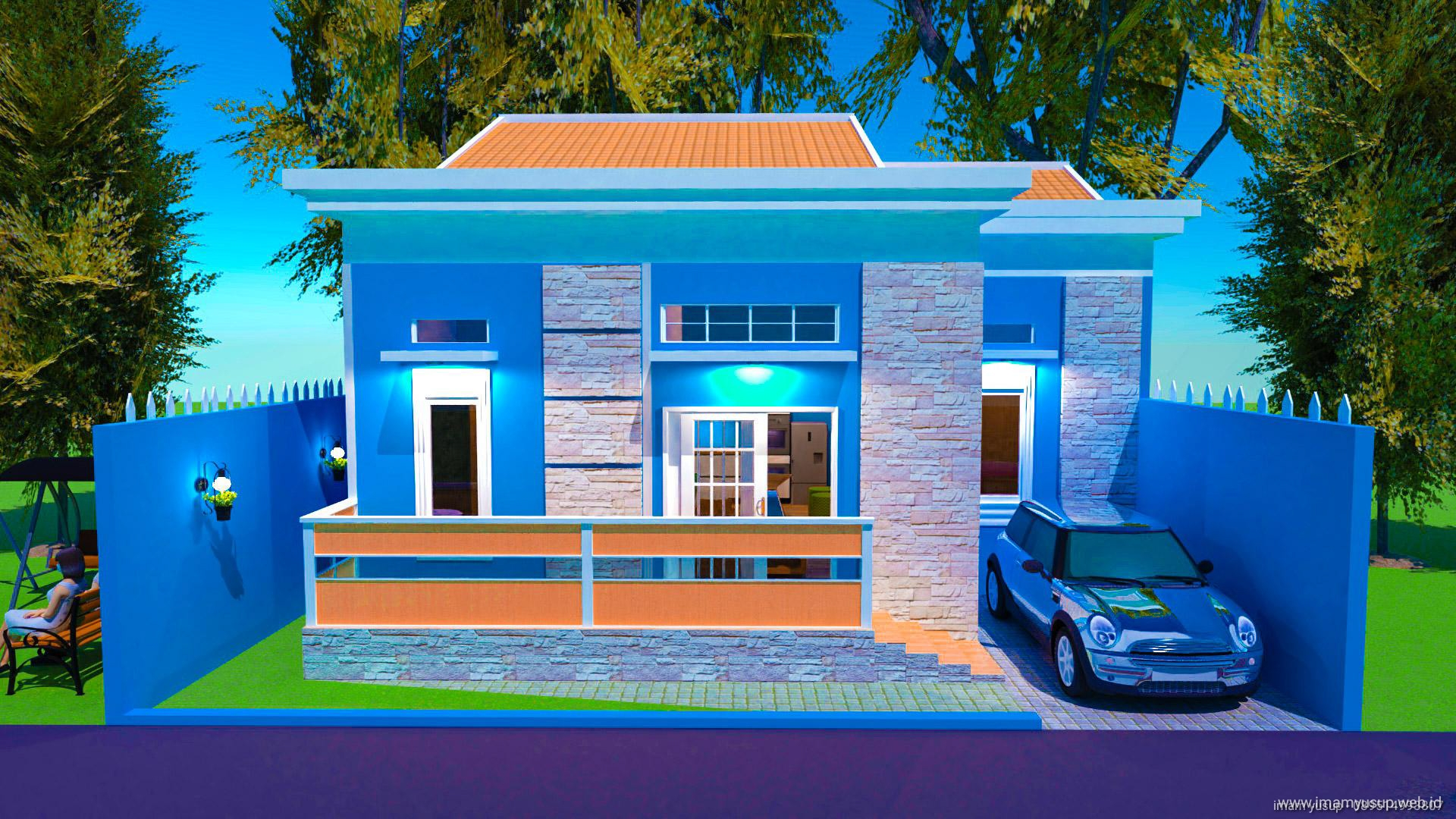 Desain Rumah Minimalis Ukuran Keseluruhan Bangunan 10x10 Home Design Imam Yusup