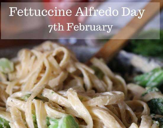 National Fettuccine Alfredo Day Wishes Sweet Images