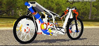 Motor drag Mio 200cc