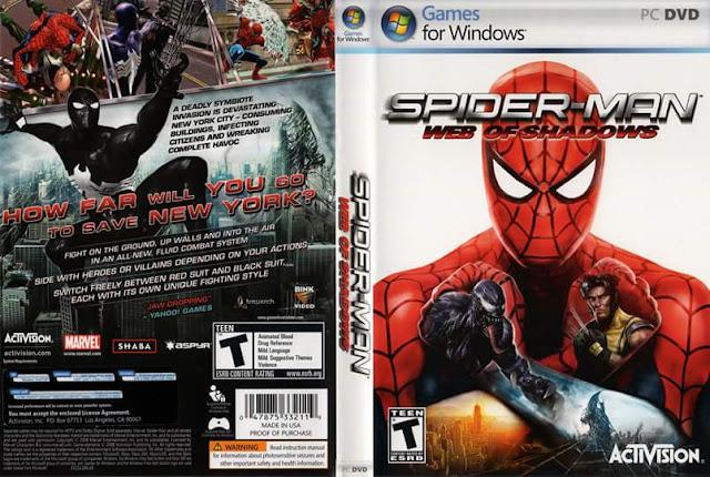 تحميل لعبه Spider-Man - Web of Shadows من ميديا فاير