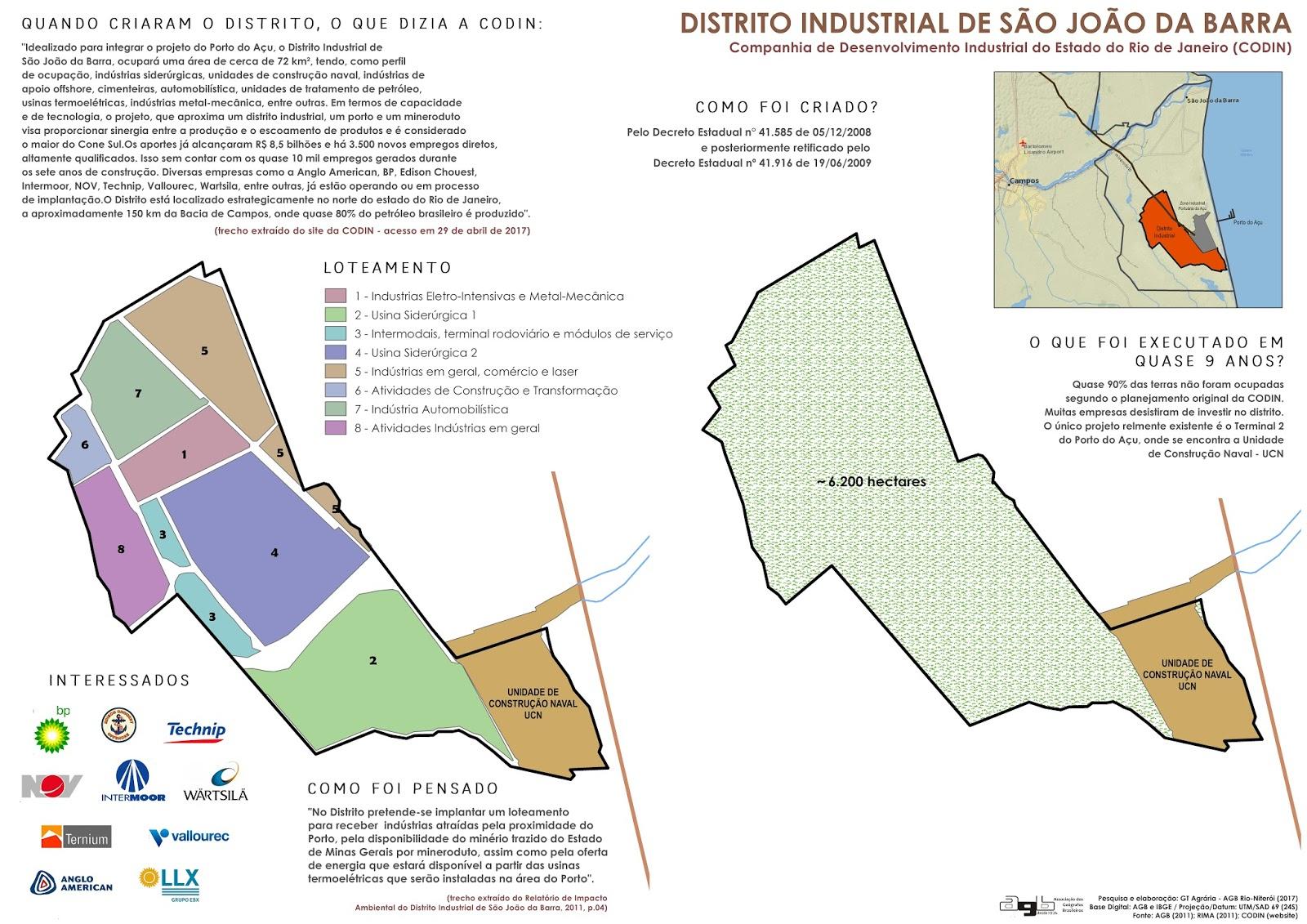 O mapa foi elaborado por Eduardo Barcelos do grupo de agrária da AGB  (Associação de Geógrafos, seção Niterói-Rio . O mapa da esquerda apresenta  os projetos ... d5a405ac07