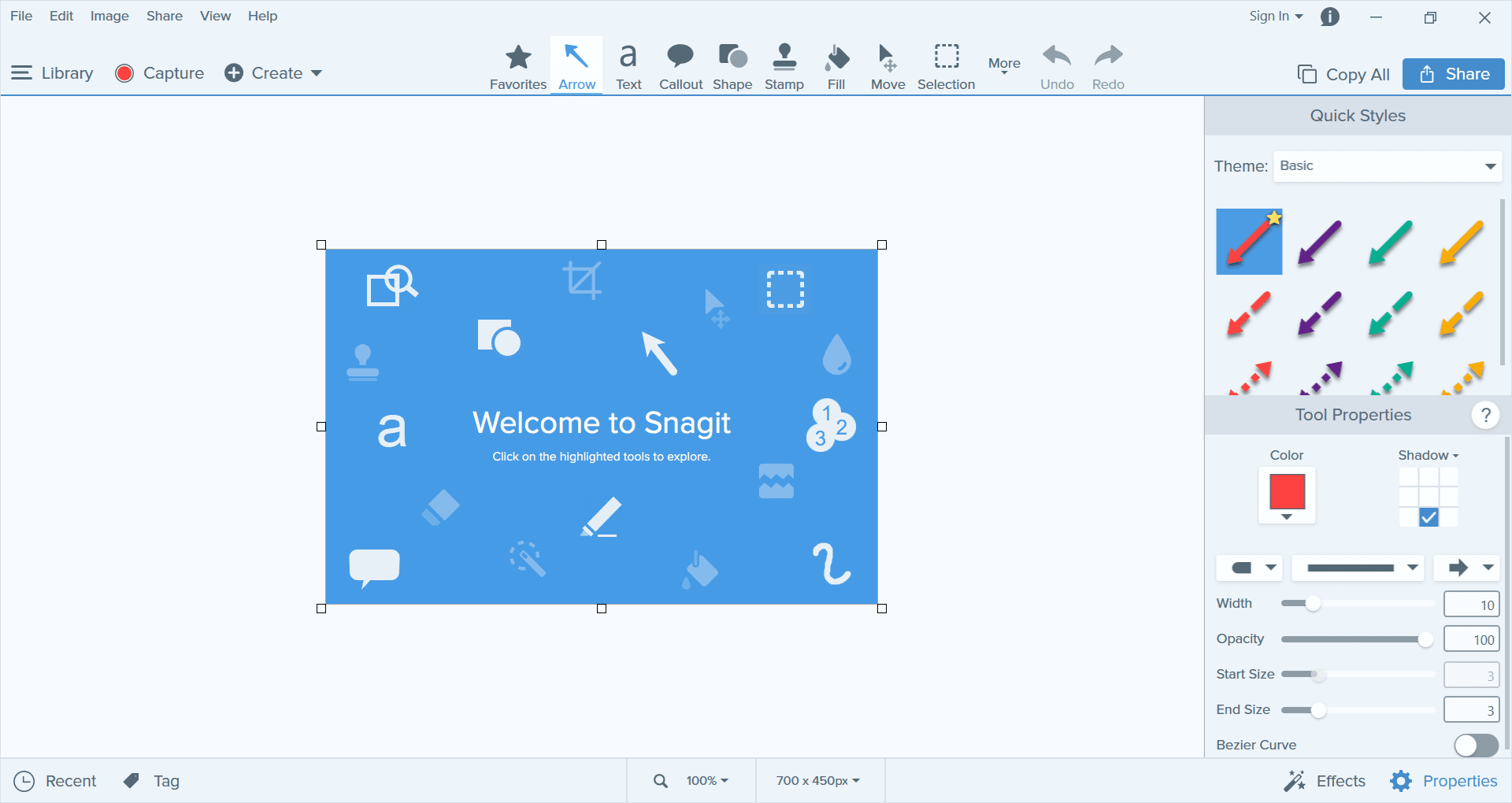 TechSmith Snagit Canvas Screenshot