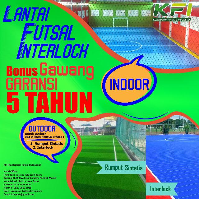 Jual Lantai Interlock Futsal