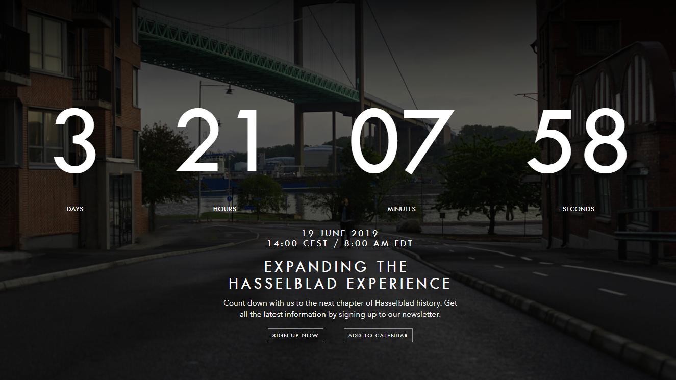 Hasselblad сообщает о презентации 19 июня 2019 года