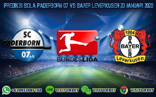 Prediksi Skor Paderborn 07 vs Bayer Leverkusen 20 Januari 2020