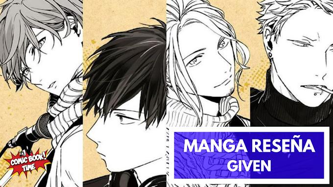 Manga reseña: 'Given', amor a través de la música   Editado por Milky Way Ediciones