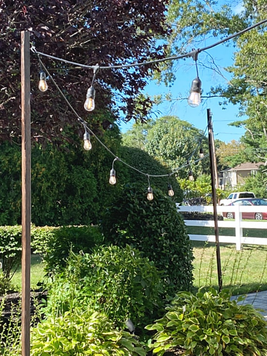 outdoor lights on poles