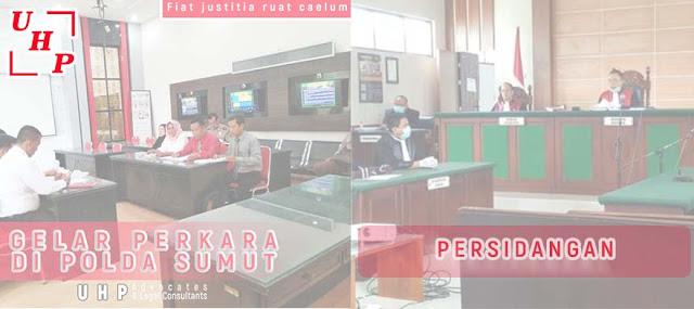 Foto Advokat pada Persidangan di Pengadilan Negeri Medan
