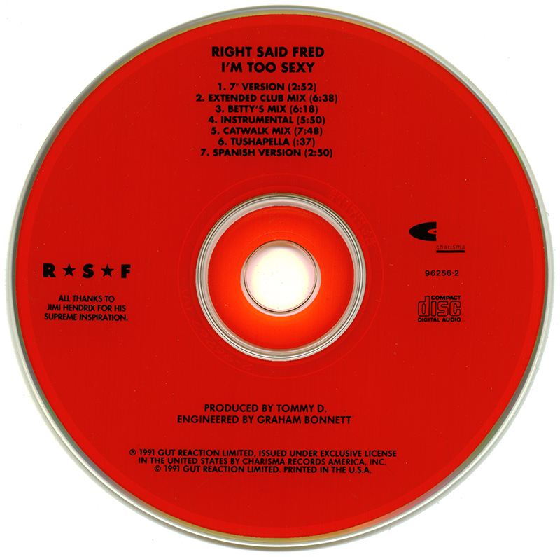 POP 'TIL YOU PUKE!: Right Said Fred - I'm Too Sexy - (CD ...