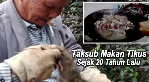 Taksub Makan Tikus Sejak 20 Tahun Lalu