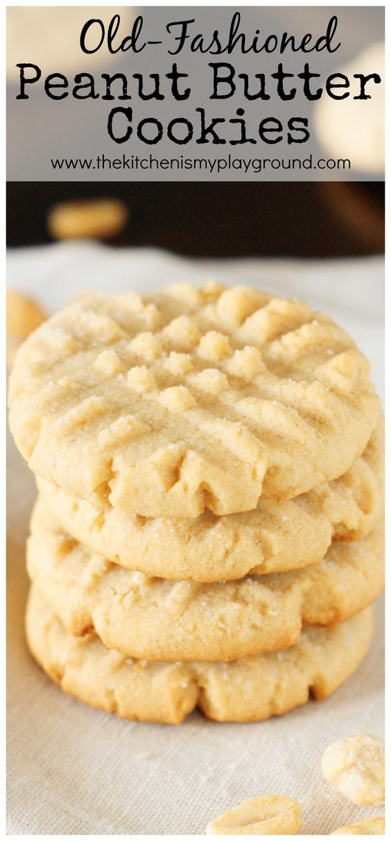 GRANDMA'S OLD-FASHIONED PEANUT BUTTER COOKIES #grandma #fashioned #peanut #butter #cookies #cookierecipes