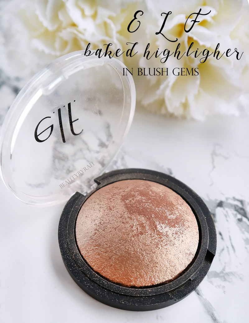 Elf Baked Highlighter in Blush Gems Review and Swatch