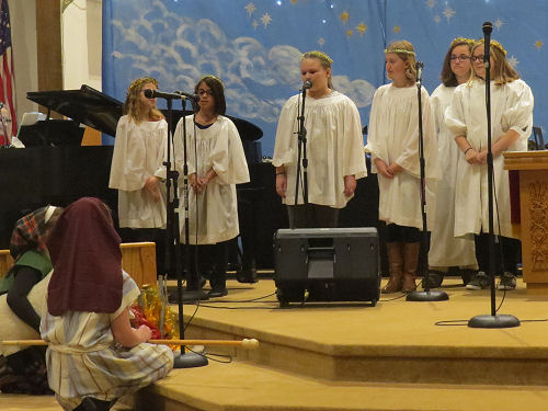 Christmas pageant angels and shepherds