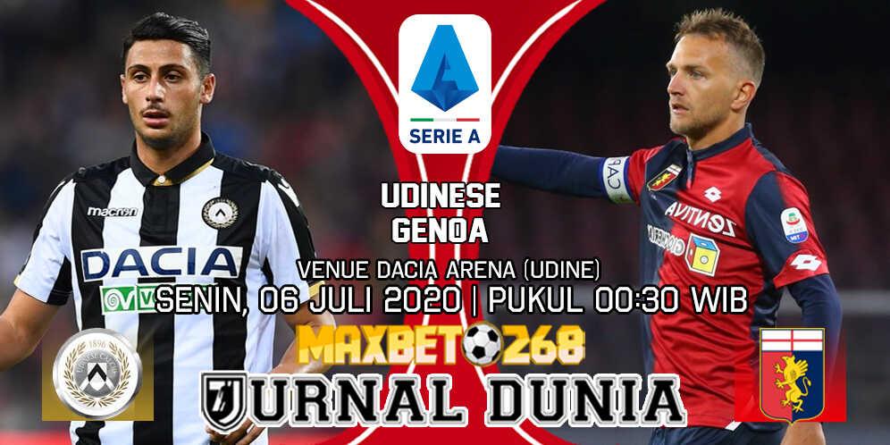 Prediksi Udinese vs Genoa 06 Juli 2020 Pukul 00:30 WIB