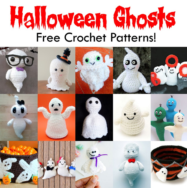Crochet patterns for Halloween ghosts!
