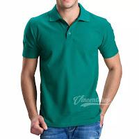 Kaos Polo Shirt Pria Warna Hijau Tosca