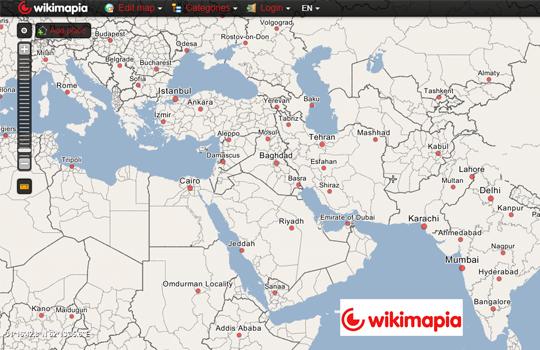 WikiMapia Digital Mapping Tool