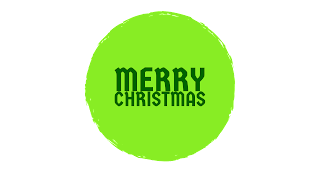Green shades colour Merry Christmas png free download