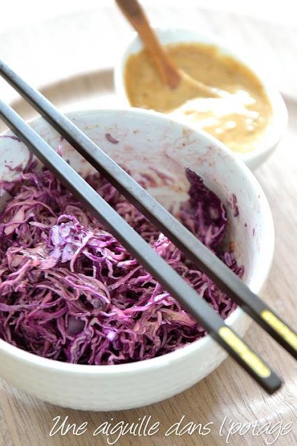 Salade de chou rouge Sauce salade acidulée-sucrée