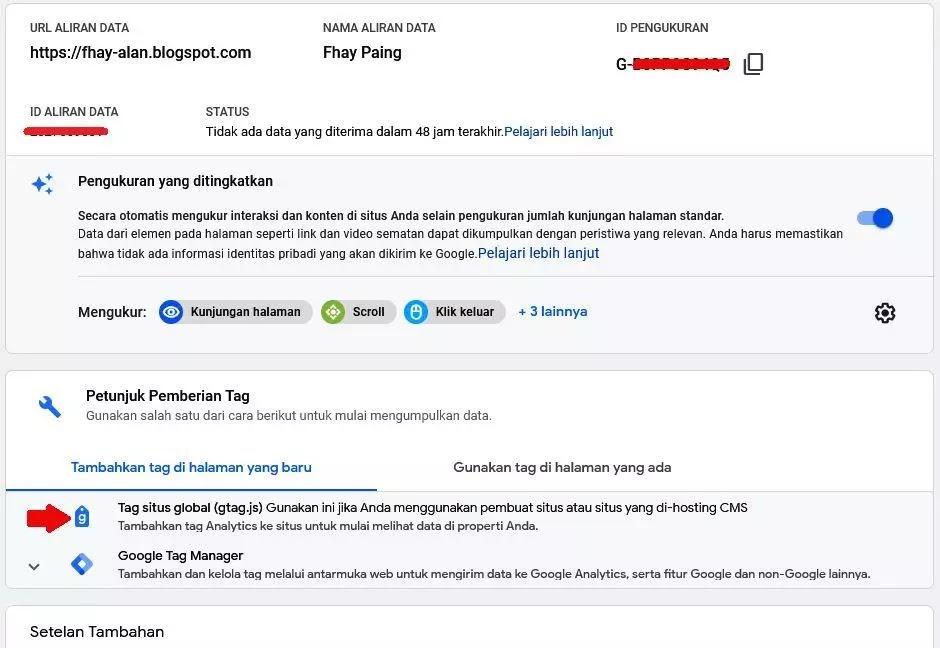 Gtag.js google analytics 4 G4