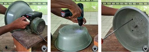 Membuat alat parut kukur kelapa dari pompa air bekas