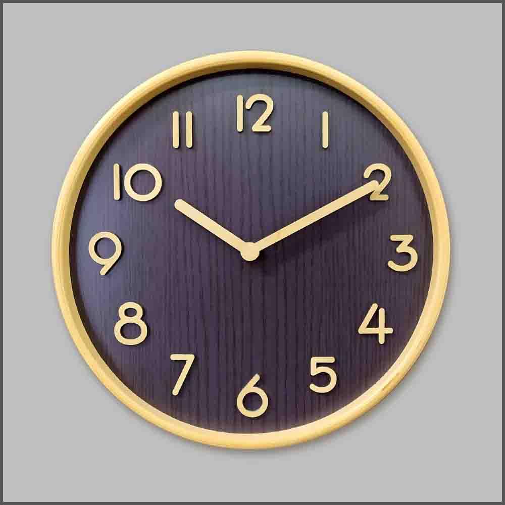 10吋木製掛牆鐘 / 簡約時尚木製掛牆鐘 / 10吋圓形木製掛鐘