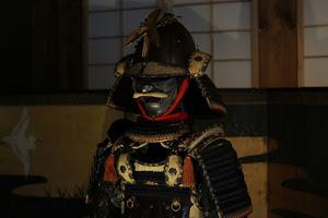 日本の侍と盾