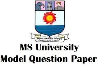 MS University Distance Education Model Question Paper